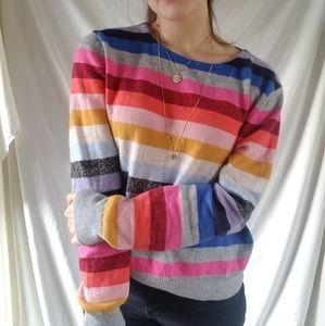 Rainbow Multicolor Striped GAP Wool Blend Sweater